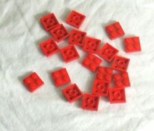 Red City #AA53 Lego ® 20 x 3022 Plate 2 x 2 Red 302221