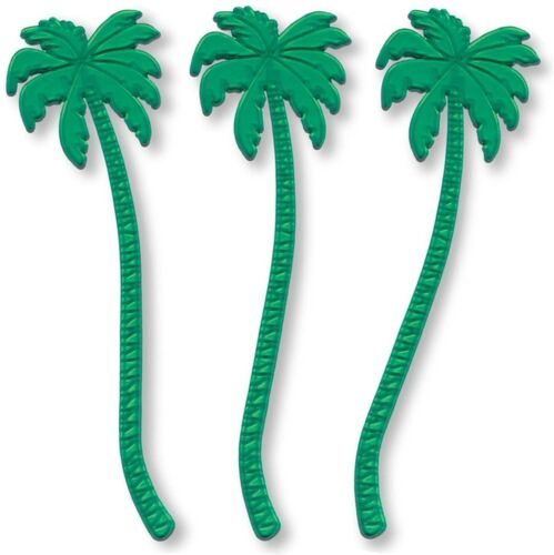 In Royer 7 Inch Transparent Green Plastic Palm Tree Swizzle Sticks Set Of 24