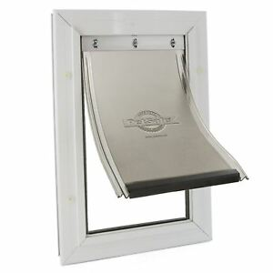 PetSafe-Staywell-Aluminium-Pet-Door-Dog-Cat-Flap-Energy-Efficient-Lockable-Small