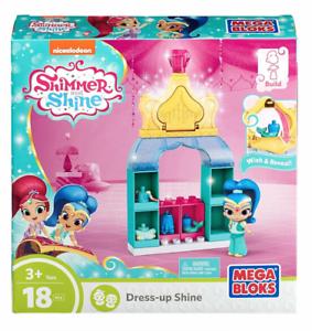 Dress-Up  Shine Blue 18 pcs NIB Mega Bloks Shimmer /& Shine Genie Fashion Pack