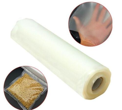 Vacuum Sealer Rolls Bags Embossed Transparent Storage for Food Kitchen Saver HZ