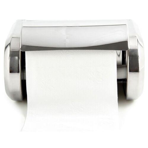 Edelstahl Badezimmer Wandmontierte Toilette Chrom Papierhalter Tissue Box V J9J7