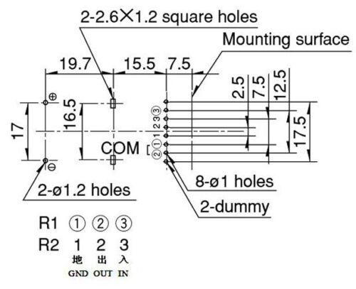 ALPS 4x100KA LOG 4Way 4-Gang RK168 Motorized Potentiometer Pot 1pc