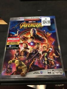 Avengers: Infinity War (Blu-ray + Digital, 2018) Factory Sealed w/Slipcover!!!