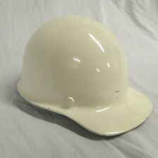 Msa Skullgard Fiberglass Hard Hat Vintage Class A Off White L 5 Front Brim