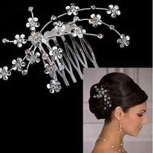 Hot-Bridal-Bridesmaid-Wedding-Plum-Hair-Comb-Headpiece-Flower-Crystal-Rhinestone
