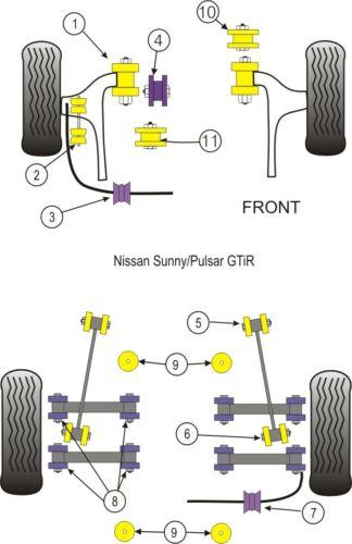 Kit de montaje de motor PFF46-104 Powerflex caja de cambios frontal superior Púrpura 1 en Caja
