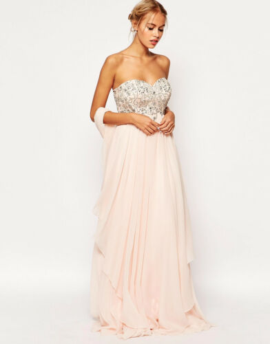 Ashley Roberts For Allure Bandeau Maxi Dress was £300 now £80.00 size 8