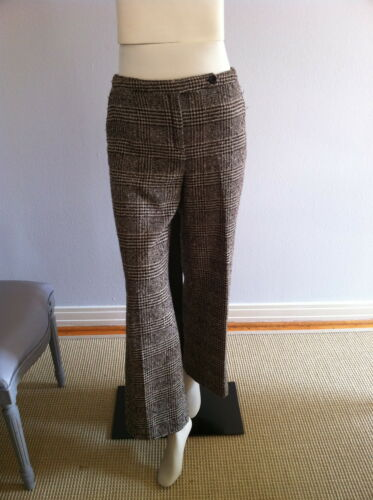 Valentino brown plaid trousers