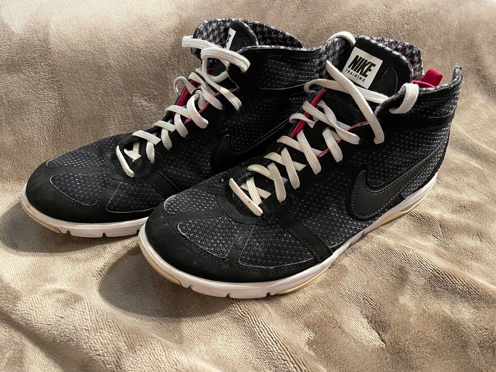 Femmes Nike Air Entraînement Max S2S Mi Baskets Noir Rose Blanc Taille 8.5
