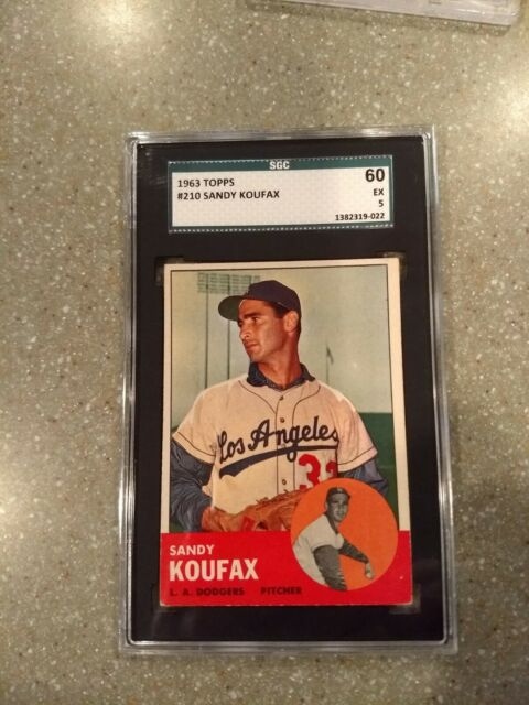 1963 Topps Sandy Koufax 210 Baseball Card