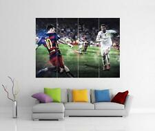 MESSI V RONALDO REAL MADRID BARCELONA BARCA FC GIANT WALL ART PHOTO PRINT POSTER