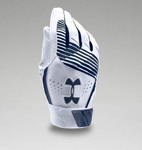 Under Armour Youth UA Clean Up Baseball Batting Gloves 1299531-410 MDN//WHT//MDN