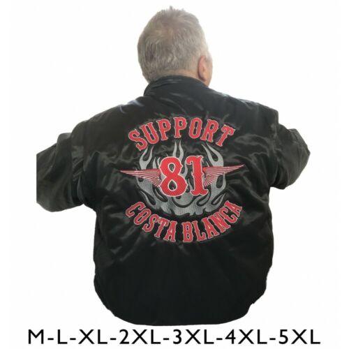 49 Hells Angels Support81 CWU  Bomber Flieger Jacke