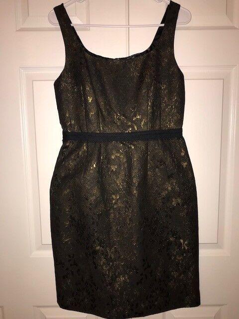 NEW Elie Tahari Kearny Gold schwarz braun Dress Größe 6 NWT