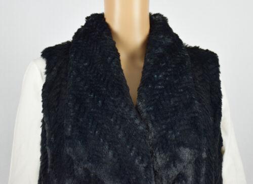 Faux M Zxcwyaq Wildflower Black Vest Fur Jacka För Kvinnor Ytterstorlek wOkXN80nP