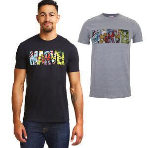 MARVEL-Comics-Logo-Men-039-s-T-Shirt-Official-Licensed-Sizes-S-XXL