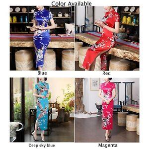 Chinese-Traditional-Women-Long-Evening-Wedding-Dress-Qipao-Cheongsam-PLUS-SIZE