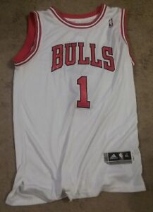 new product 9d25d 80884 Details about NWT Adidas Chicago Bulls Derrick Rose White Jersey - All  Stitched Mens Size 2XL