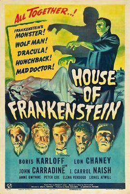 House Of Frankenstein Movie Poster 24in x 36in