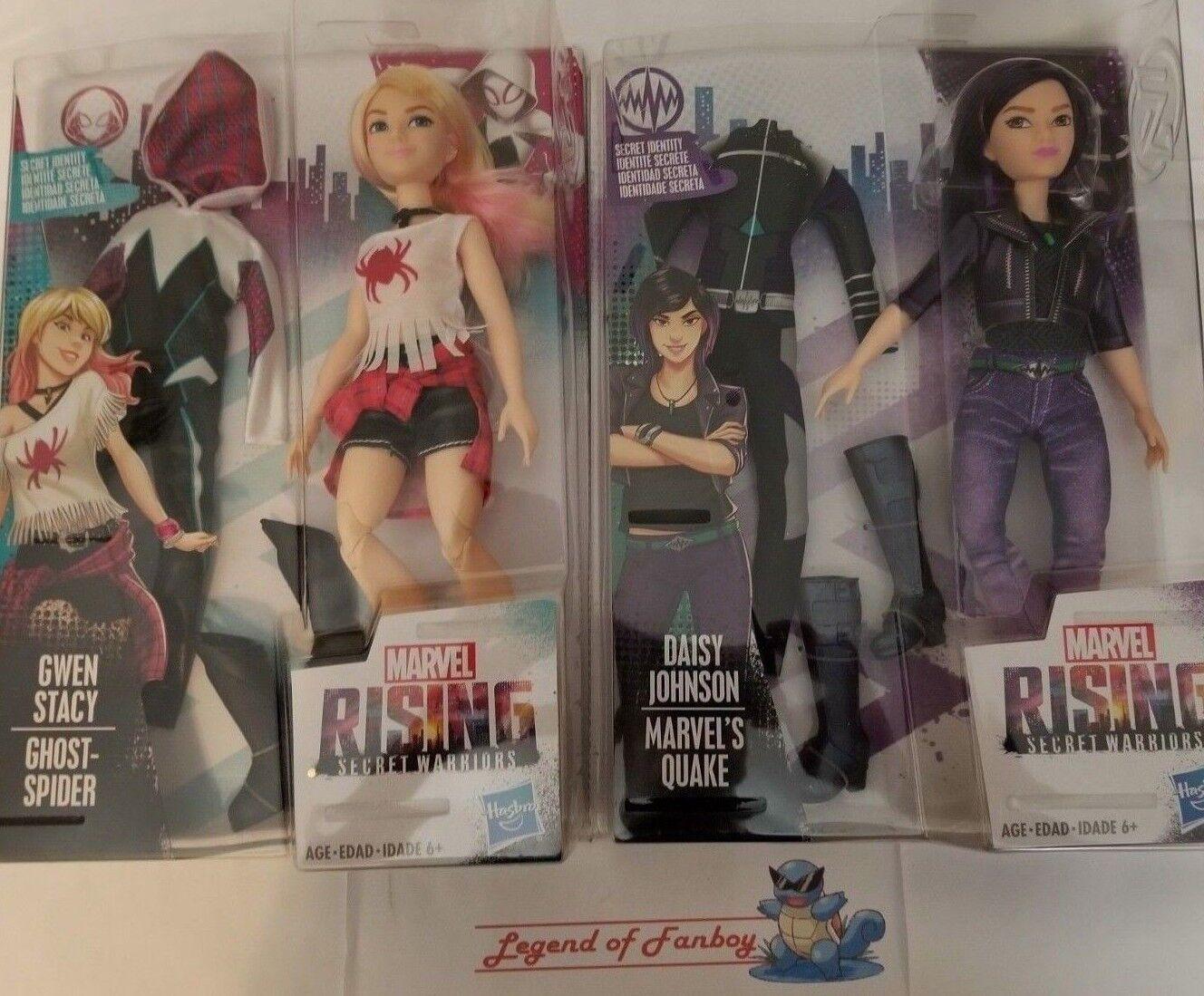 New  Marvel Rising - Quake + Gwen Stacy Ghost-Spider Secret Warriors Doll lot