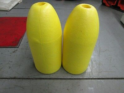 "TWO Spongex Orange Lobster Crab Pot /& Crawfish Trap Bouys 5/"" x 11/"" Bullet"