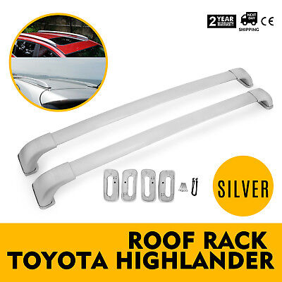 Fit 14-18 Toyota Highlander LE Roof Top Aluminum Rack Cross Bars Luggage Carrier