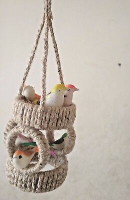 Hanging Nest Made Of Jute Holding Birds With Eggs Decorative Hanging Handmade Ebay