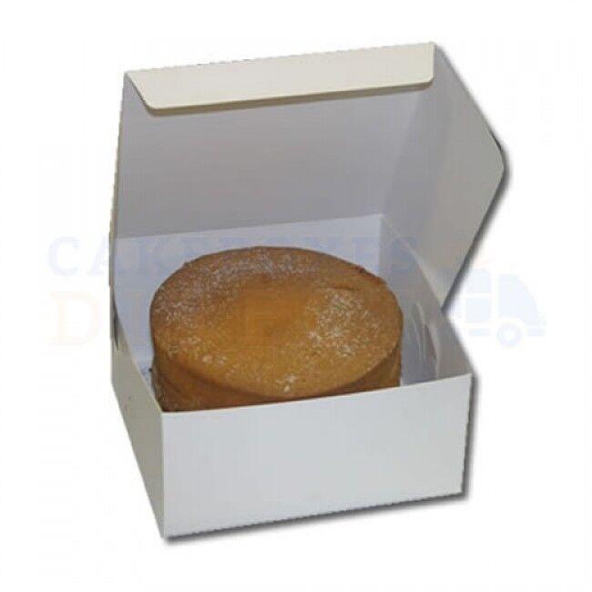 100 - Weiß Folding 1 Piece ECONOMY Cake Box  CHOOSE YOUR Größe