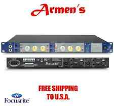 Focusrite ISA TWO 2 CHANNEL MICROPHONE PREAMP DUAL MONO MIC PRE RACK  NEW ARMENS