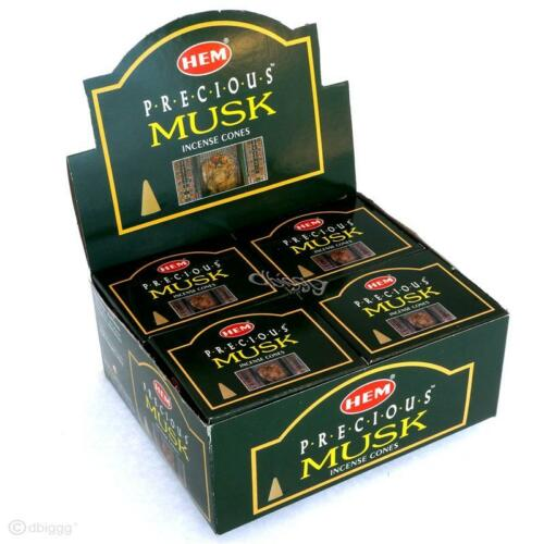 MUSK PRECIOUS von HEM 120 Räucher-KEGEL BIG PACK Räucherkerzen Incense Cones