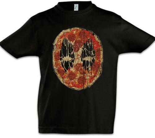 Dead Pizza Face Kids Boys T-shirt fun maker Pizzeria Food DEADPOOL SYMBOLE sign