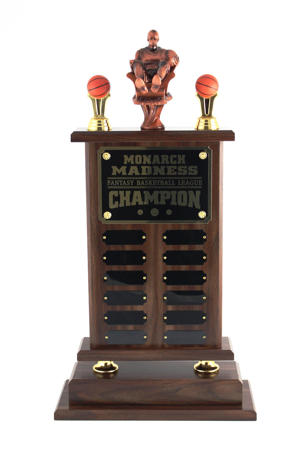 12 YEAR, 23  ARMCHAIR FANTASY BASKETBALL TROPHY - FREE ENGRAVING  SHIPS IN 1 DAY