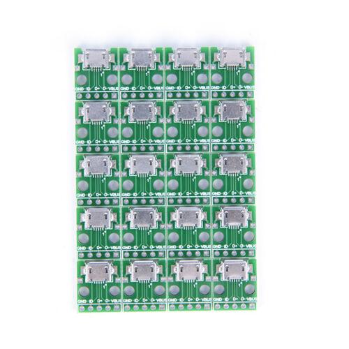 20X micro usb zu DIP 2,54mm adapter steckmodul platine panel 5 KQ