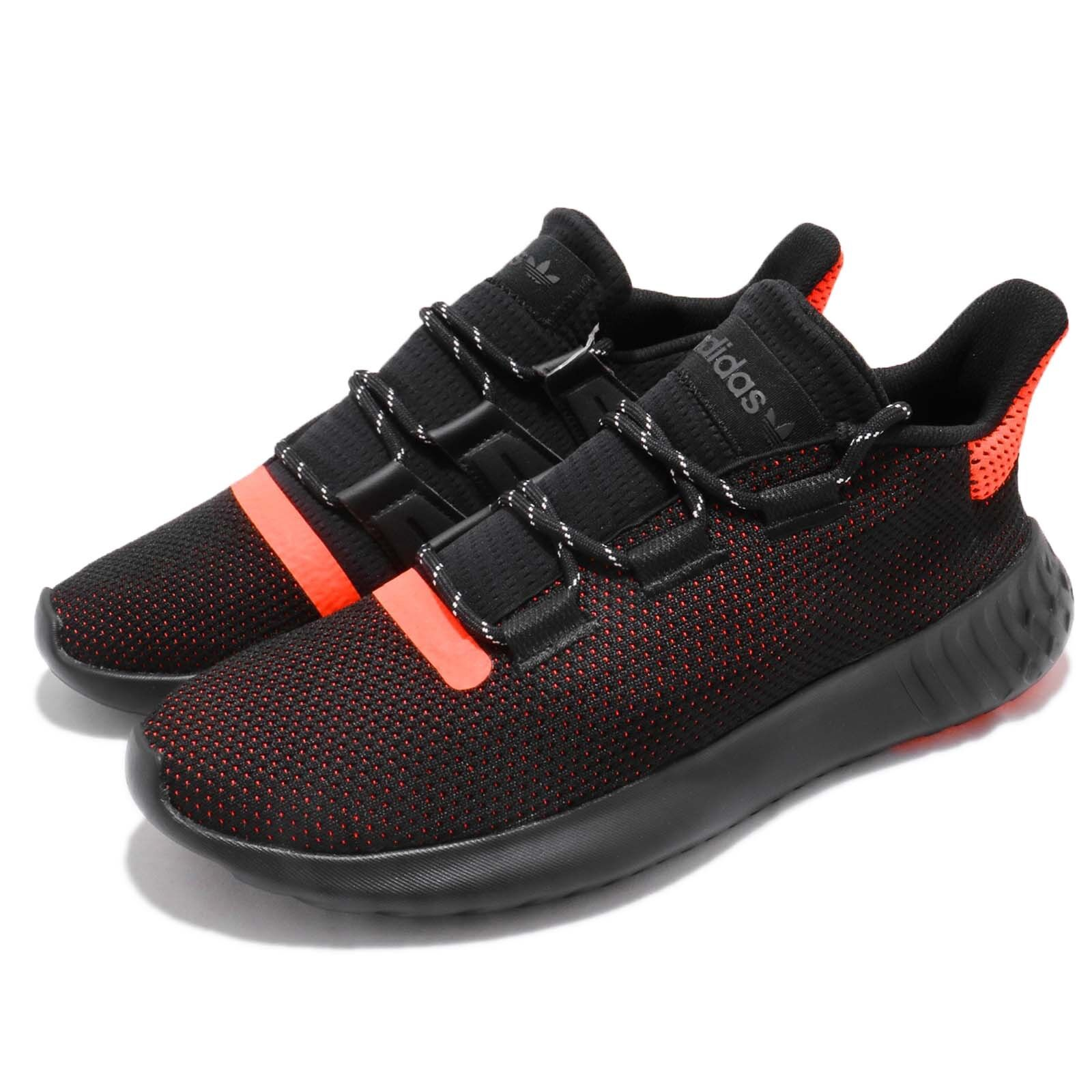 adidas Originals Tubular Dusk Black Solar Red Herren Laufschuhe Sneakers AQ1189