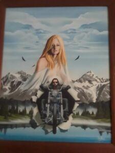 David-Mann-Biker-Art-Motorcycle-034-Eyes-in-the-Sky-034