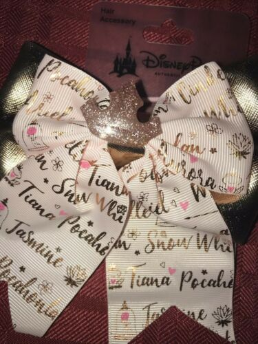 Disney Parks Princess Hair Accessory Bow Tiara Pink Rose Gold New