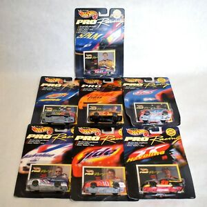 Hot Wheels 1997 NASCAR Pro Racing Collector 1st Ed lot of 7 Diecast Cars 1:64