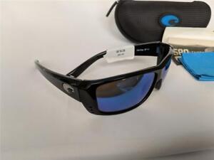 4a8e9cc1b1 New Costa Del Mar Cat Cay Polarized Sunglasses 580G Glass Black Blue ...