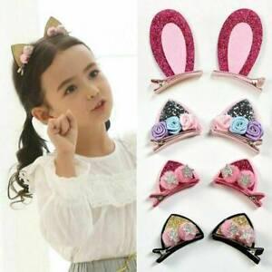 2x-Girls-Cute-Cat-Ears-Hair-Clips-Children-Lovely-Hairpins-Hair-Accessories-Kids