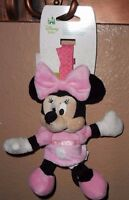 Disney Minnie Mouse Pink Baby Girl Plush Chime Toy
