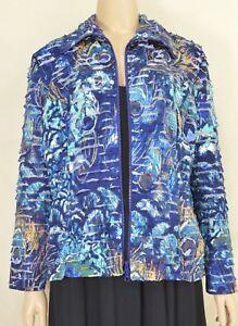 Clara-S-Clara-Sun-Woo-jacket-SZ-M-zipper-front-close-blue-gold-abstract