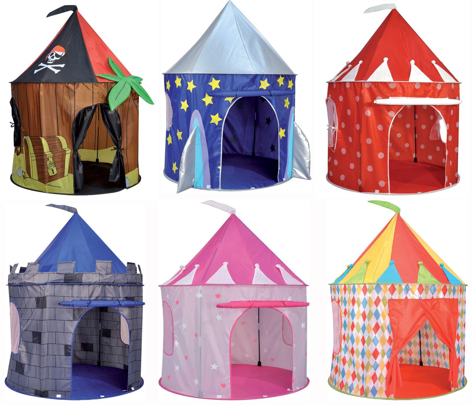 Geist von Kinder Pop Up Zelt Spielhaus Pirat Rakete Zirkus Schloss 130x100cm