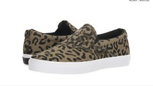 8a62327c4 Diamond Supply Co. Boo J XL Cheetah Suede Slip-On Skate Shoes DS US ...