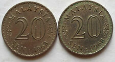 Malaysia 20 sen 1968 coin 2 pcs