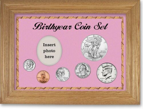 Pink Framed Birth Year Deluxe Coin Gift Set For Girls 2018