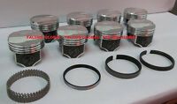 Speed Pro Chevy 427 425/435 Hp Forged Dome Pistons + Race Rings 11.1:1 +30