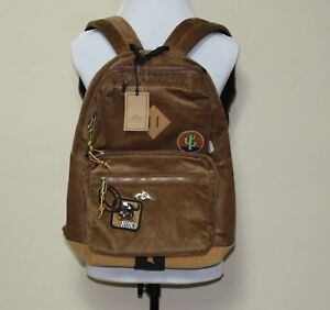 2fc6ea9ef1 Image is loading Steve-Madden-Corduroy-Classic-Backpack-with-Patches- Backpack-