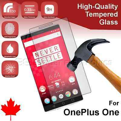 OnePlus One Premium Clear Transparent Tempered Glass Screen Protector Canada