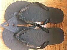 Havianas flip flops sandals NWT size 8M black